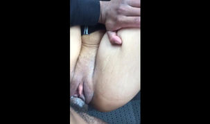 My mature wifey  during car sexquickie